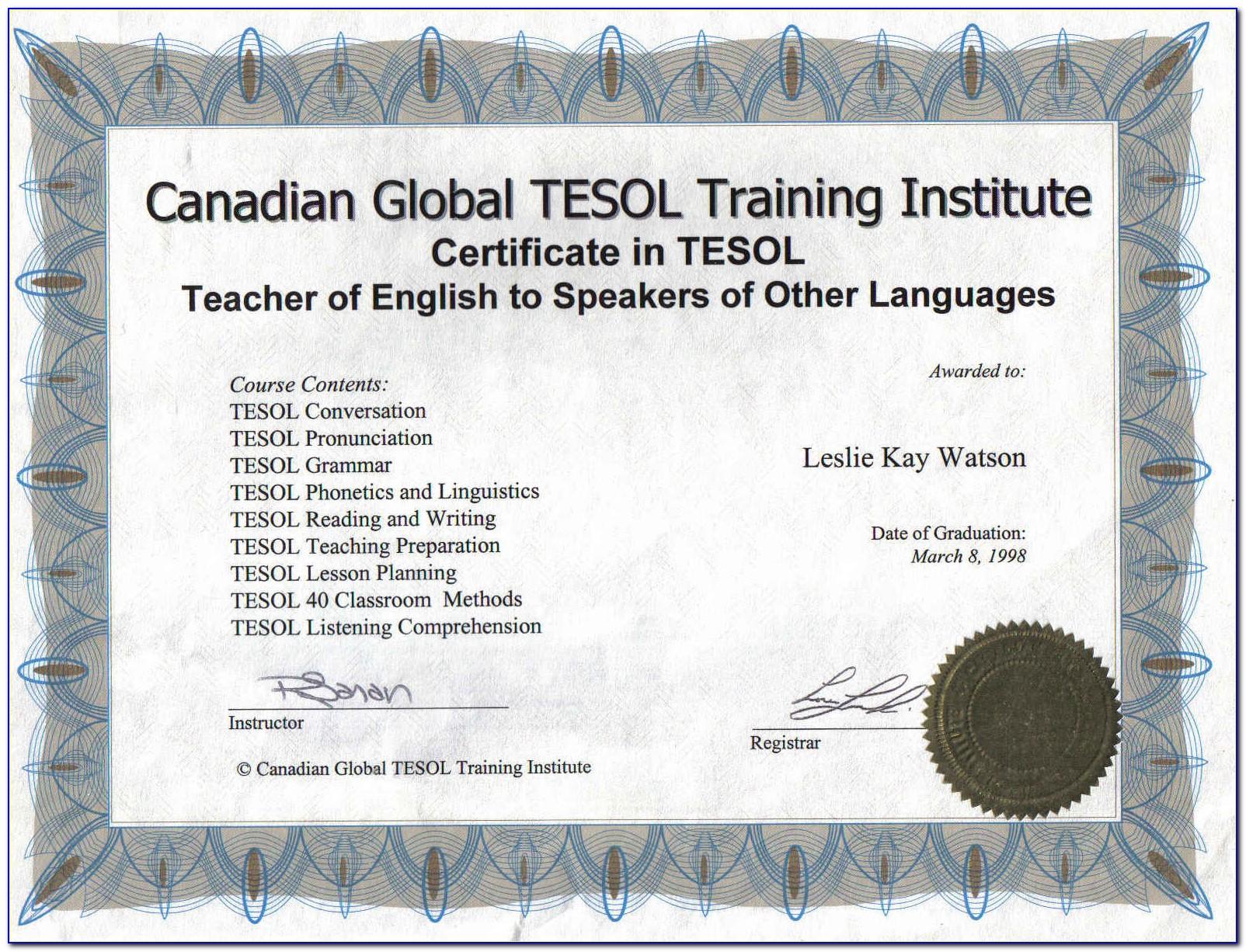 Esl Teacher Training Online
