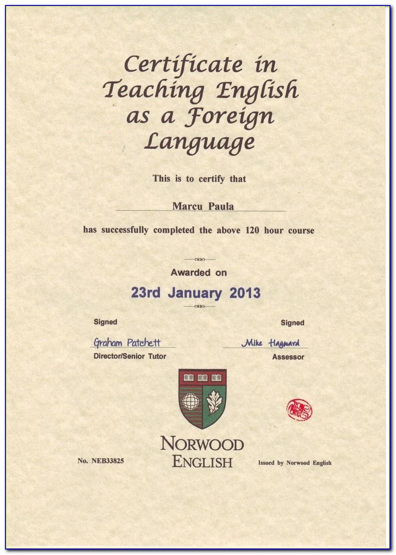 Esl Teaching Certification Online