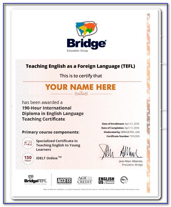 Esl Tesol Certification Online