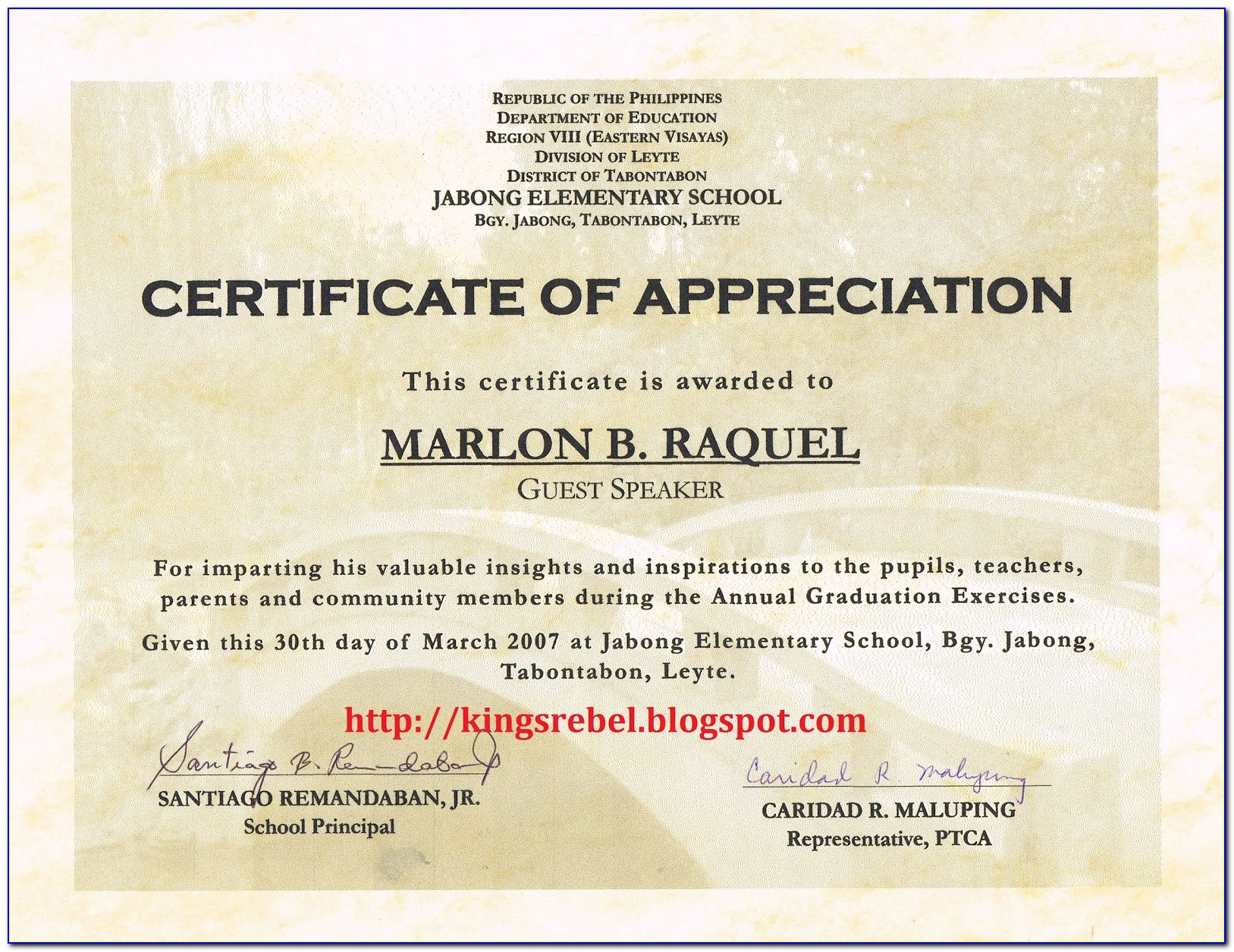 Example Of Certificate Of Appreciation For Teachers