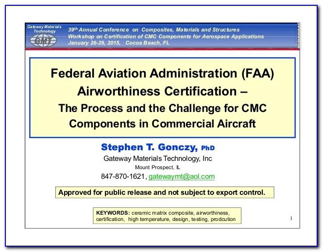 Faa Certificate Database