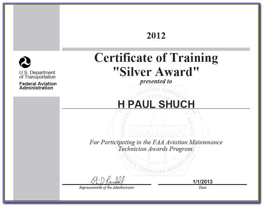 Faa Certificate Number Search