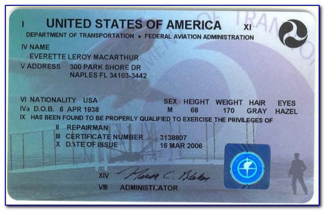 Faa Repairman Certificate Application
