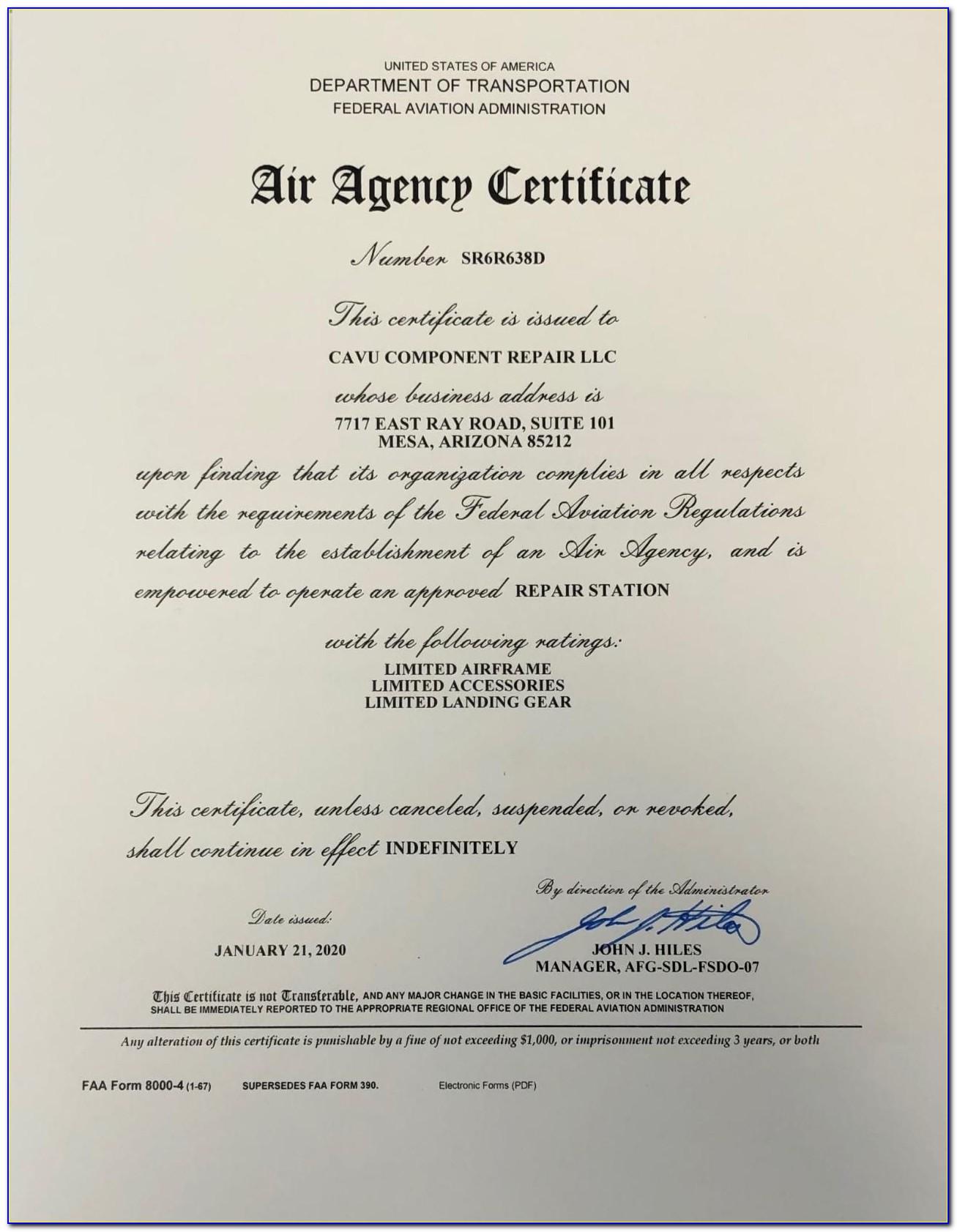 Faa Repairman Certificate Avionics