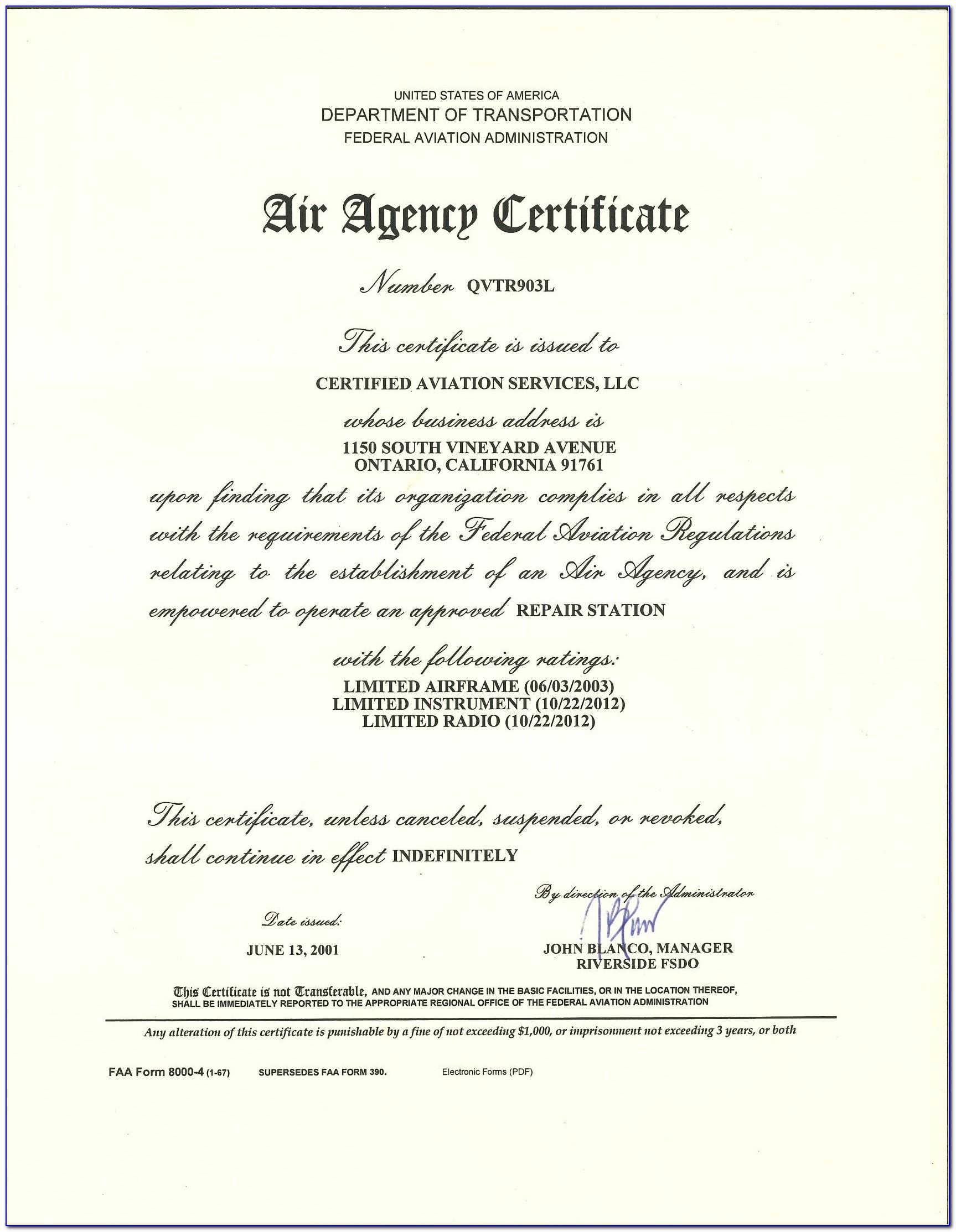 Faa Repairman Certificate Search
