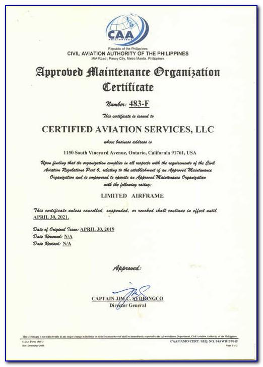 Faa Repairman Certificate Vs A&p