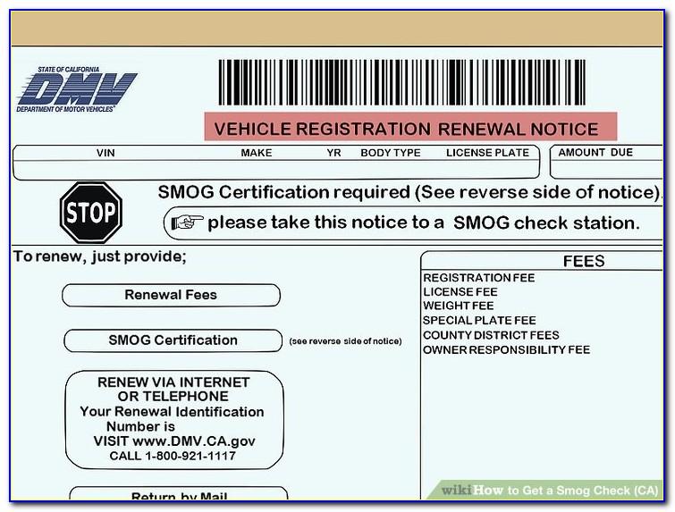 Fake Smog Check Certificate