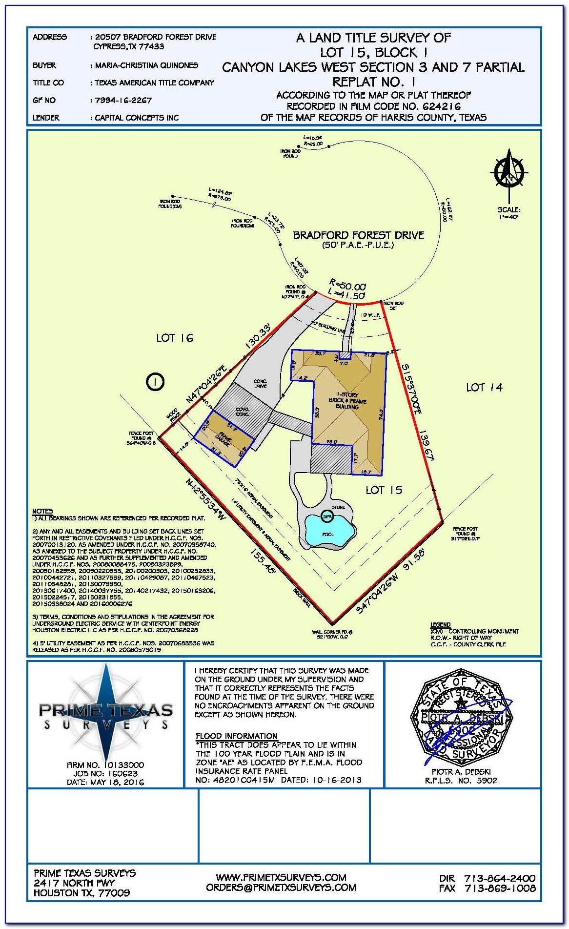 Fema Elevation Certificate Houston