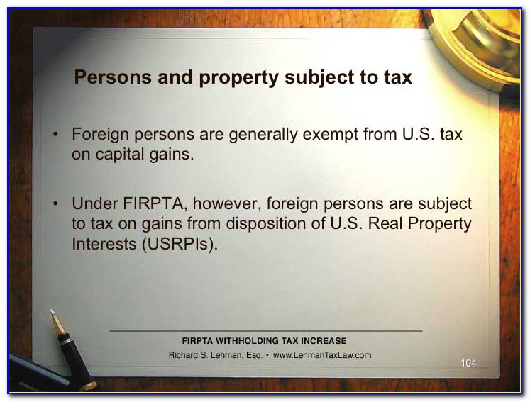 Firpta Withholding Certificate Form 8288