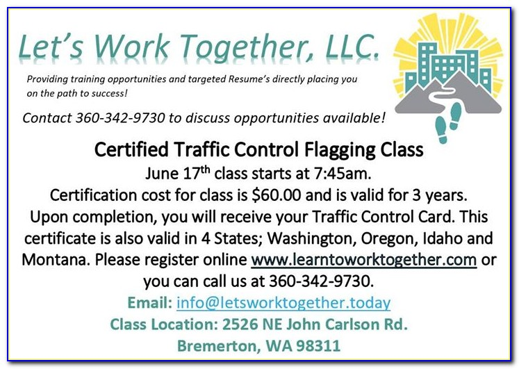 Flagger Certification Medford Oregon