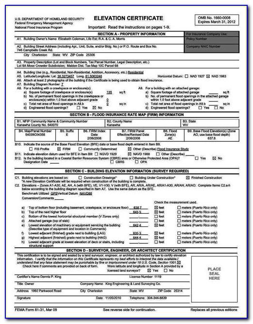Flood Elevation Certificate Houston