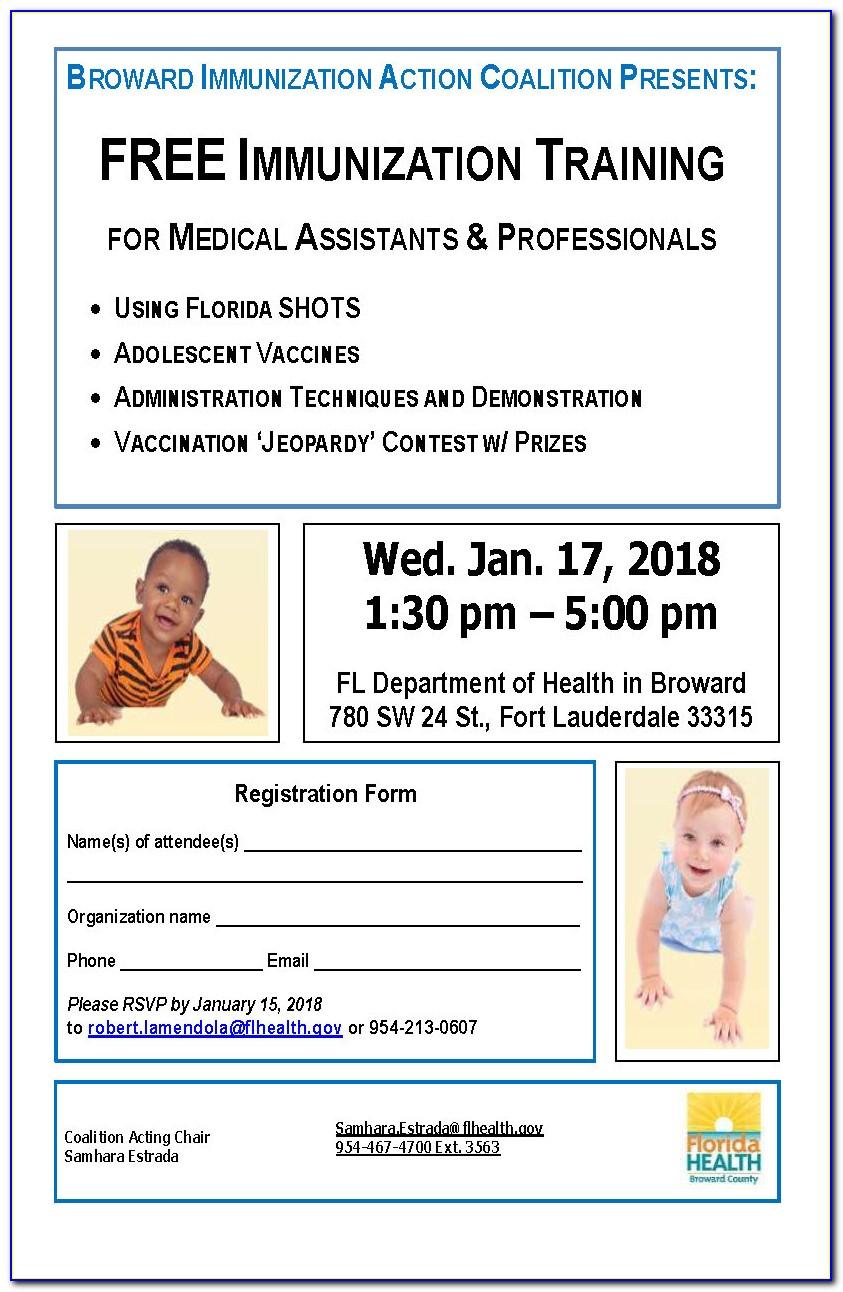 Florida Department Of Health Certification Of Immunization