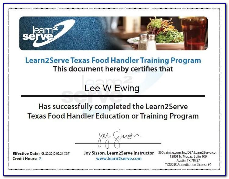 Food Handlers Card Texas Online Certification & Testing