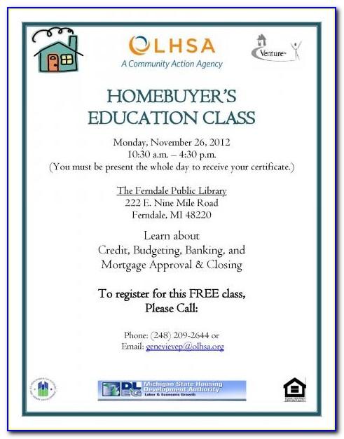 Framework Homebuyer Education Certificate