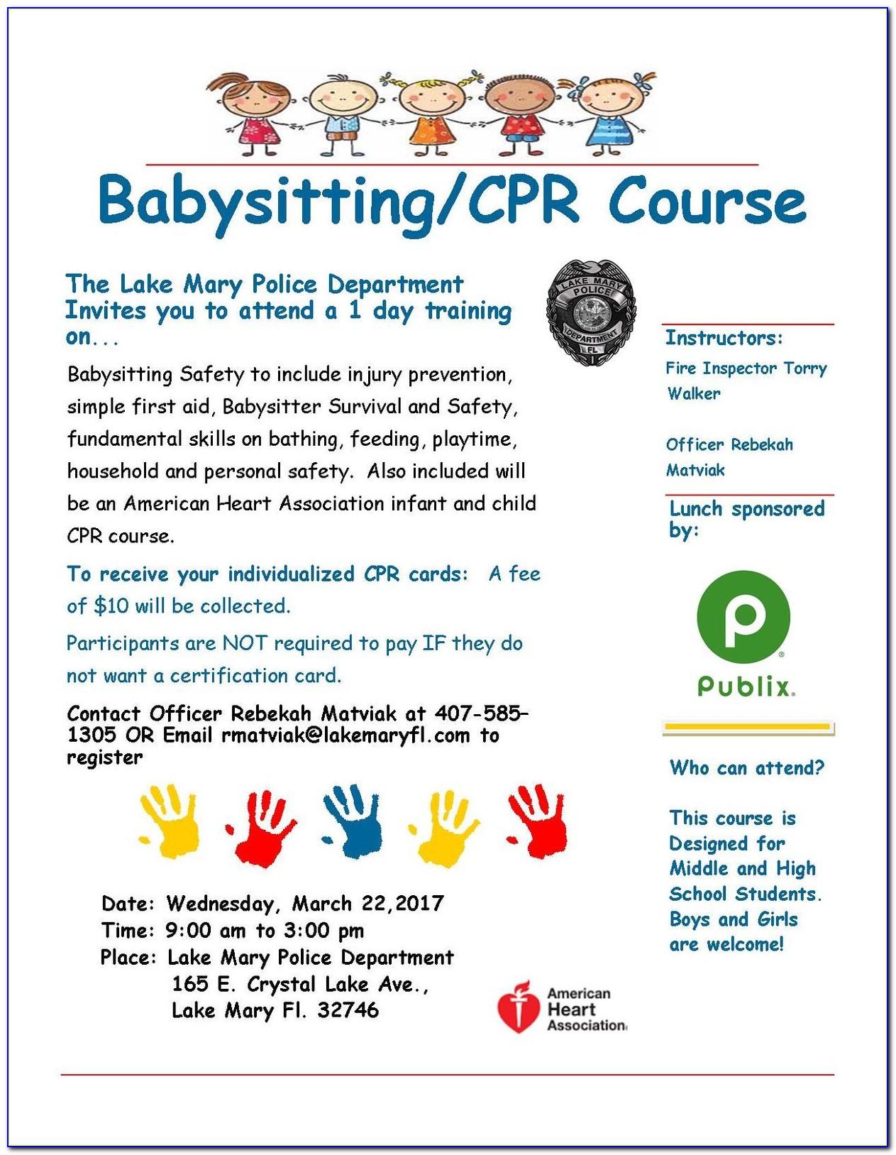 Free Babysitting Certification Classes