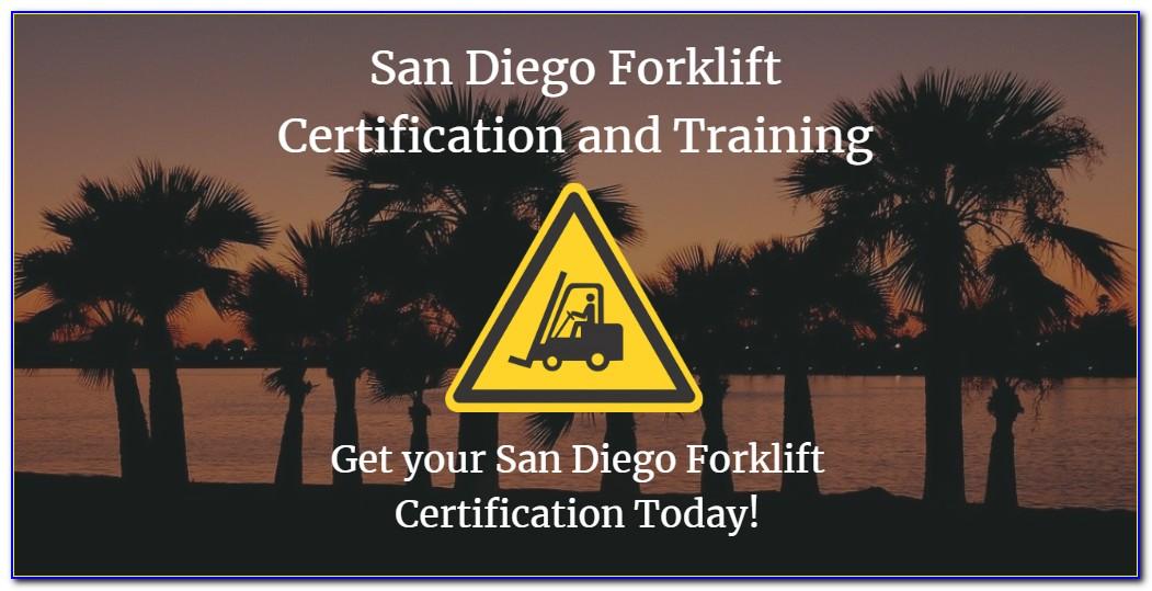 Free Forklift Certification San Diego