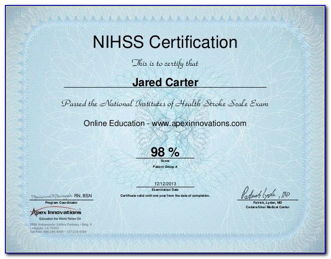 Free Nihss Certification Online