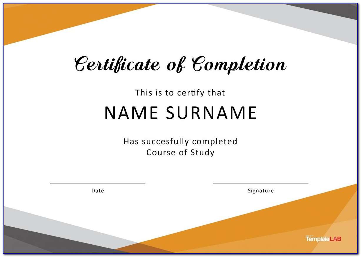 Free Online Printable Certificates Of Completion