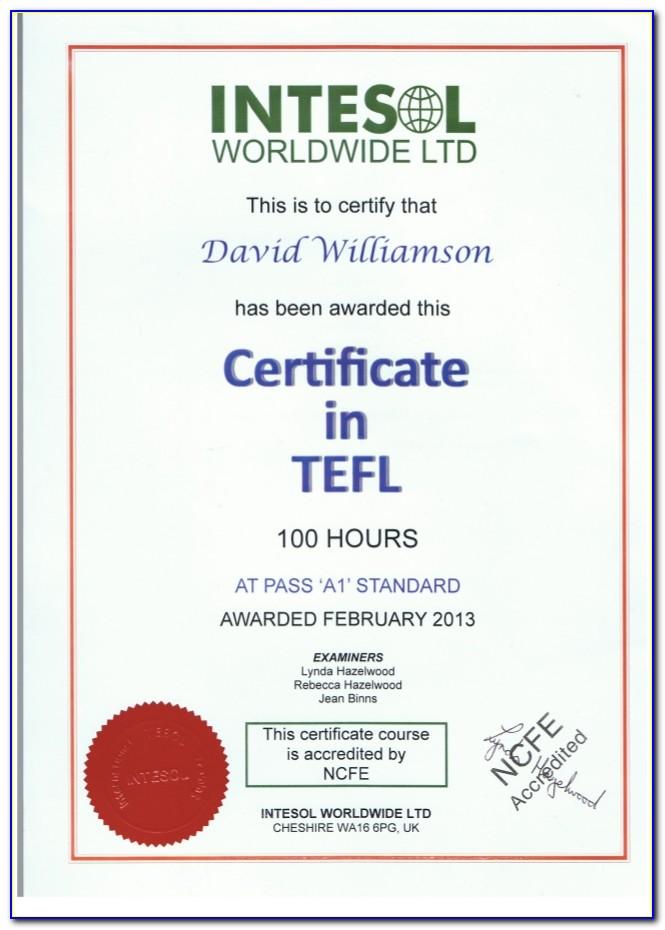 Free Tefl Certification Abroad