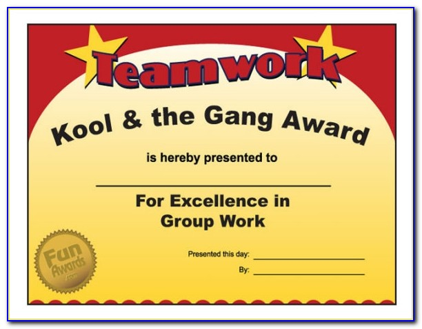 Funny Award Certificates For Employees