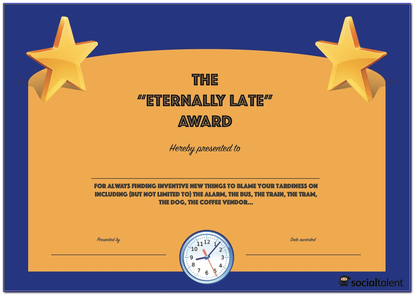 Funny Award Certificates Free Downloads