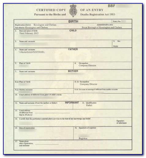 Get A Copy Of My Birth Certificate Uk
