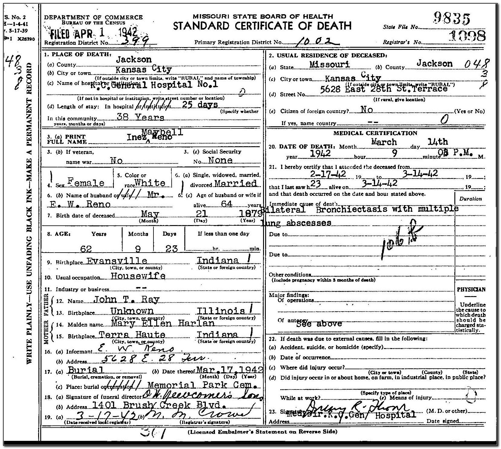 Get Birth Certificate Reno Nv