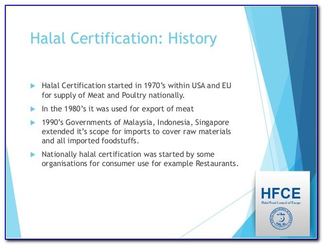 Halal Food Certification Usa