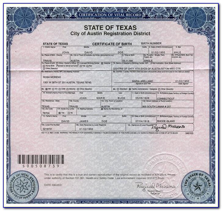 Harris County Birth Certificate Pasadena Tx