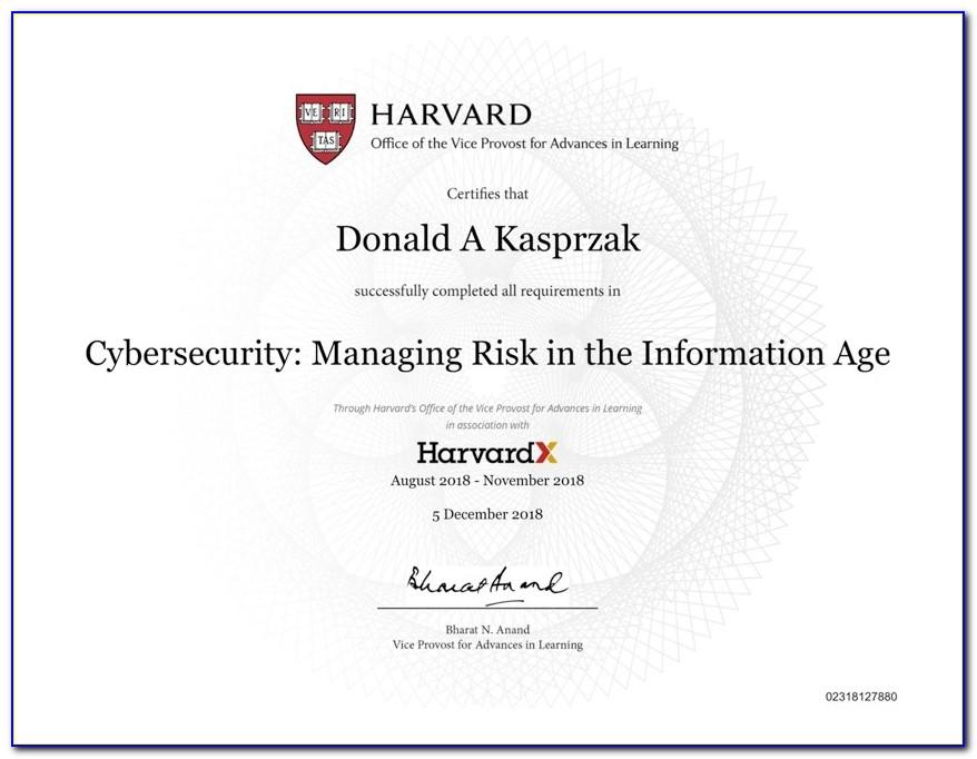 Harvard Cybersecurity Certificate Reddit