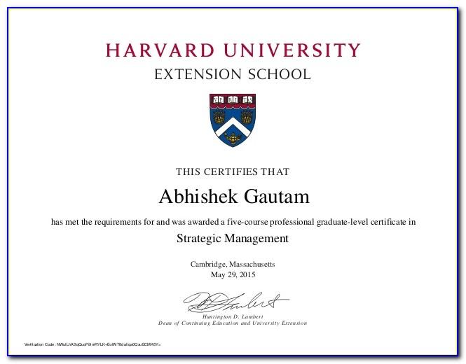 Harvard Cybersecurity Graduate Certificate