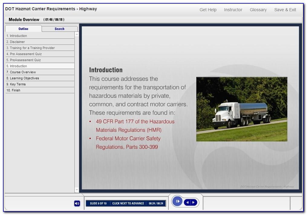 Hazmat Shipping Certification Online
