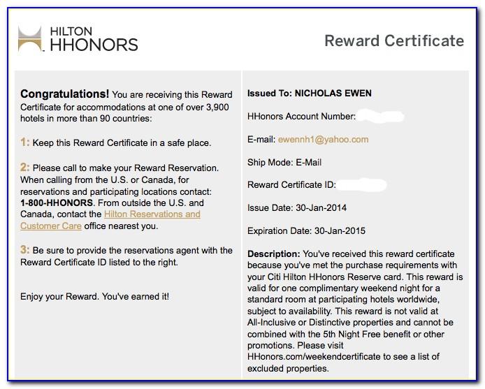Hilton Free Night Certificate Best Use
