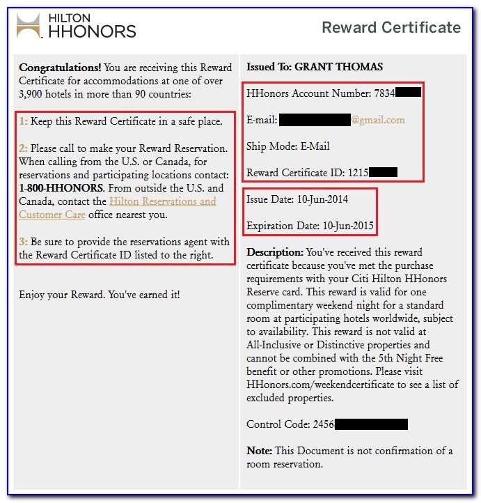 Hilton Free Night Certificate Extension