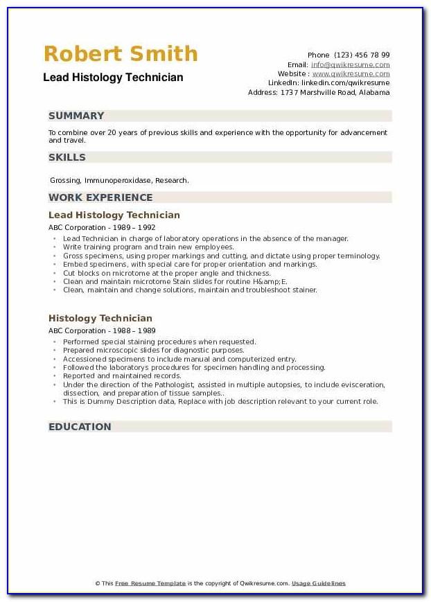 Histology Lab Technician Certification