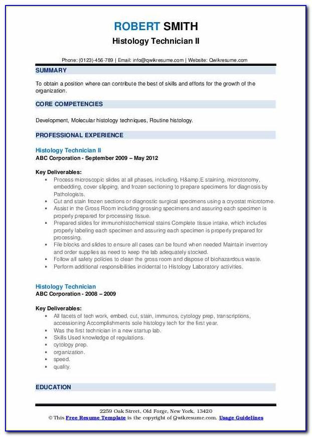 Histology Technician License Certification