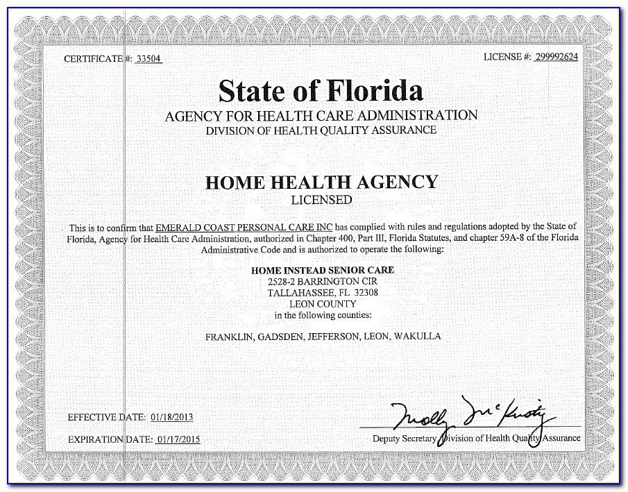 Home Health Aide Certification Florida Online