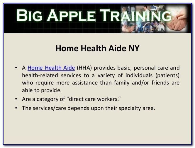 Home Health Aide Certification Ny