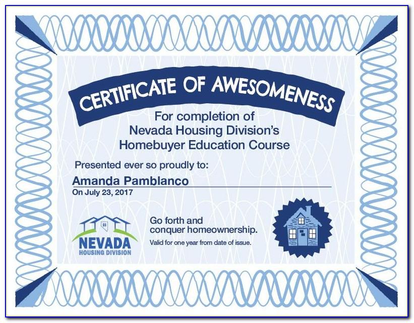 Homebuyer Education Certificate Online
