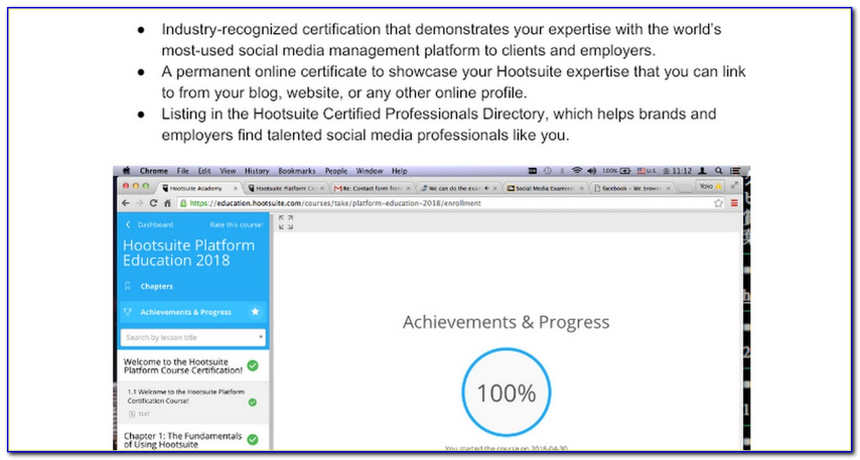 Hootsuite Certification Exam Answers 2018