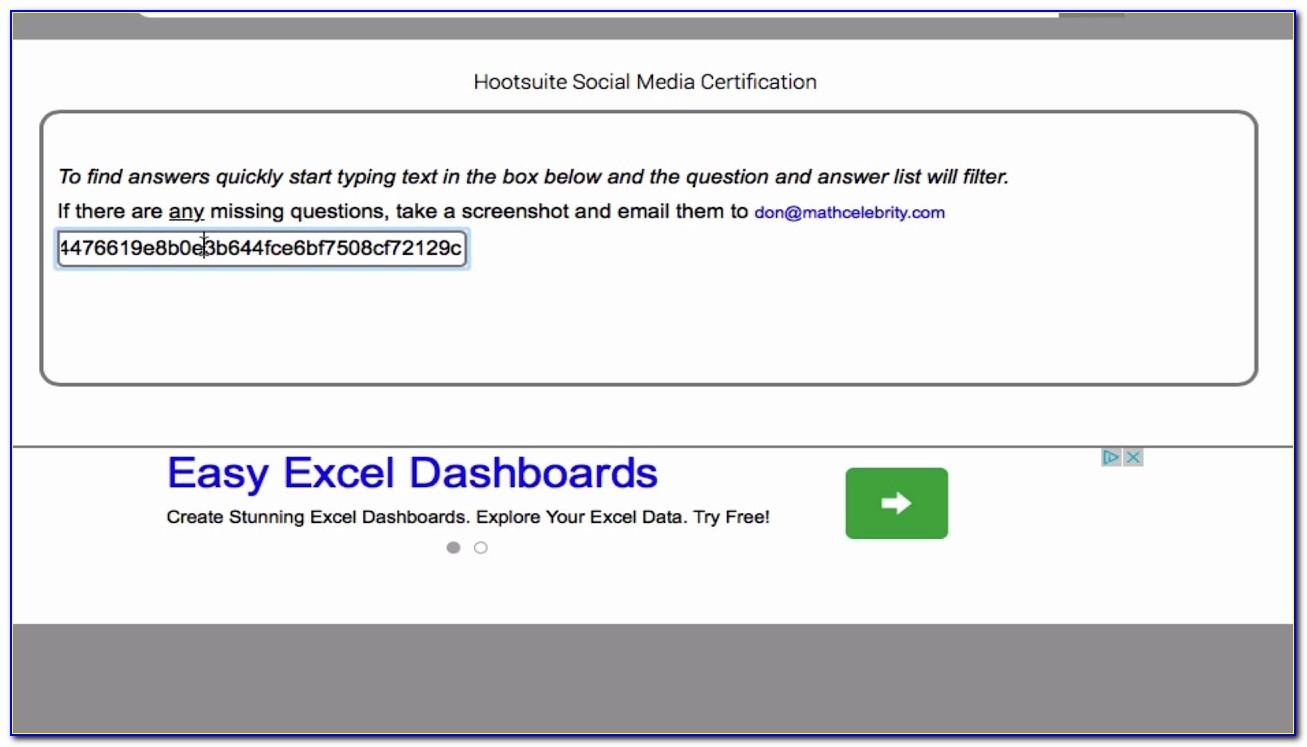 Hootsuite Platform Certification Answers