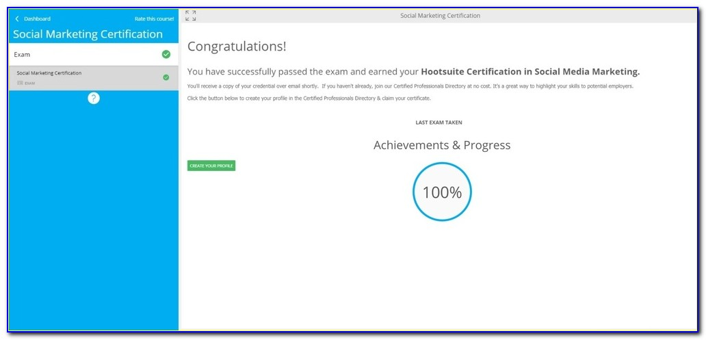 Hootsuite Social Media Marketing Certification Answers