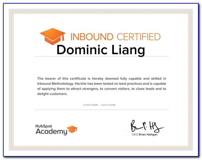 Hubspot Academy Free Certification