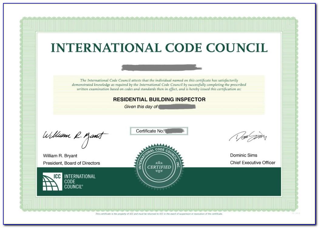 Icc Inspector Certification Lookup