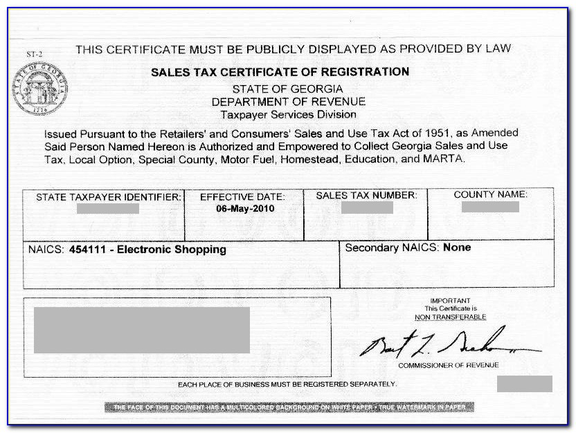 Illinois Sales Use Tax Exemption Certificate