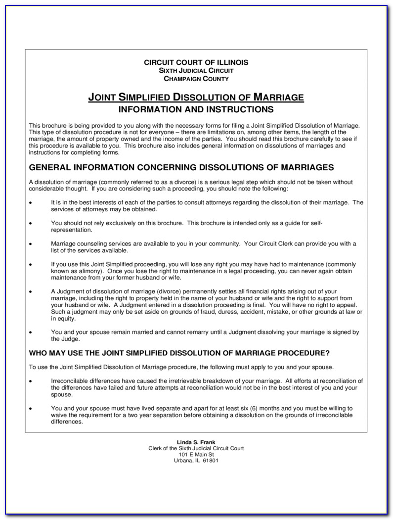 Illinois Secretary Of State Certificate Of Dissolution Of Marriage