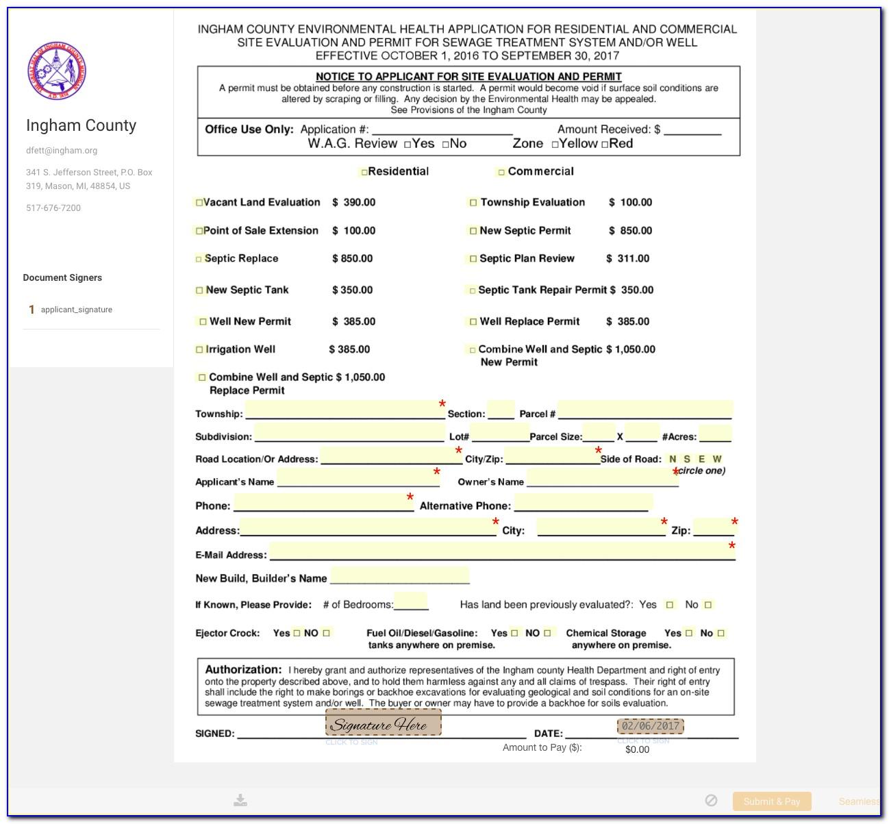 Ingham County Clerk Michigan Birth Certificate
