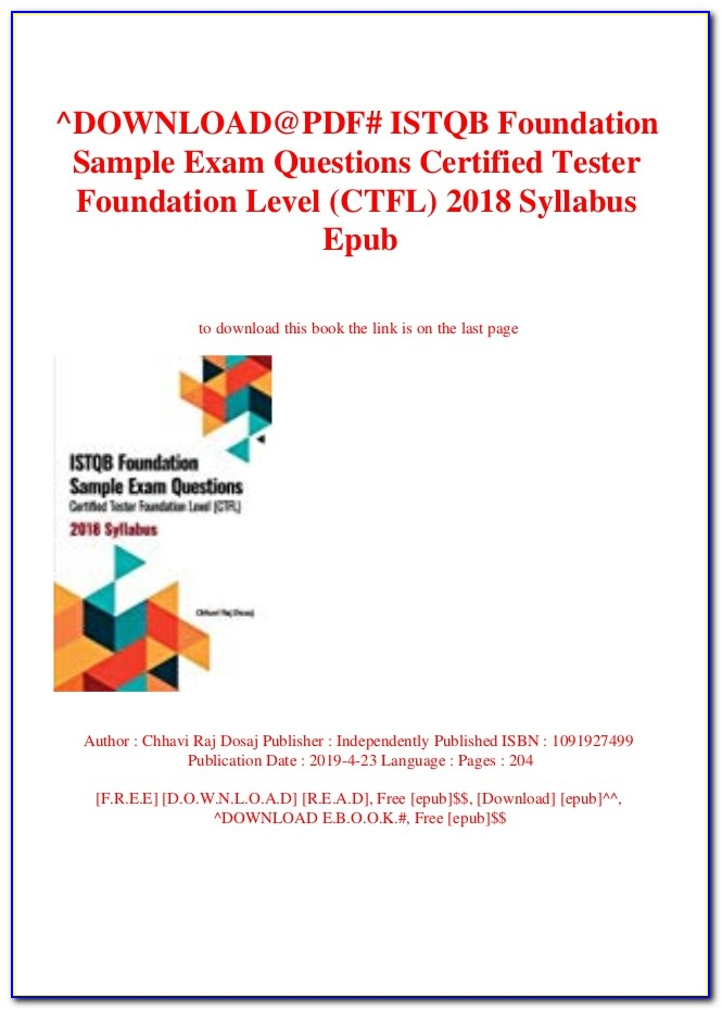 Istqb Certification Exam Sample Papers Q. 241 To 250