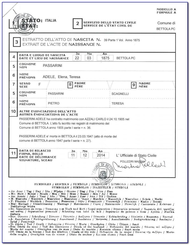 Italian Birth Certificates Online