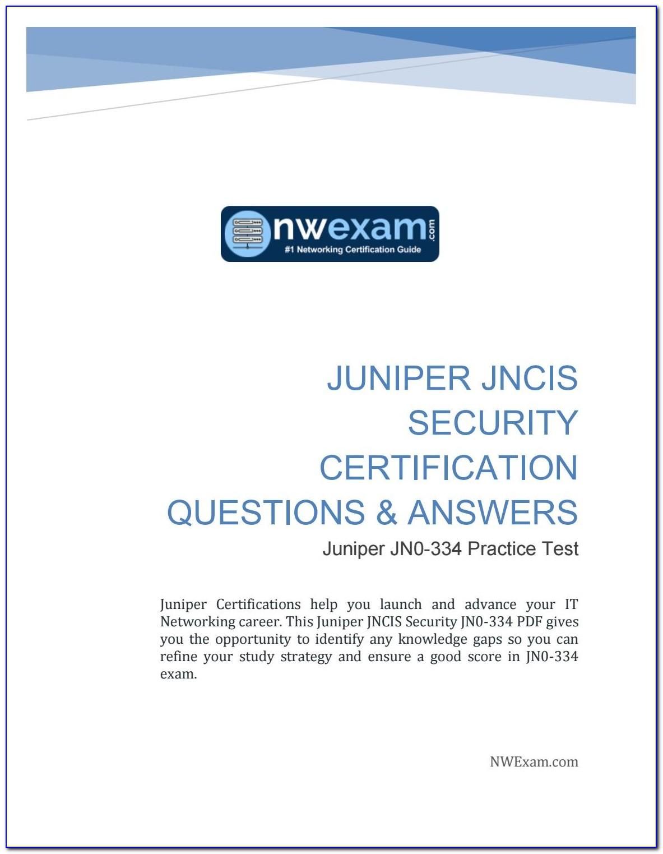 Juniper Certification Track Pdf